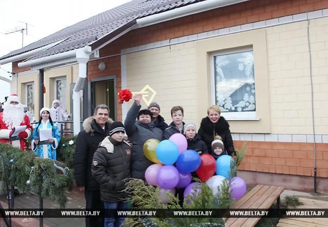 Новый дом семейного типа открыт в Лоеве