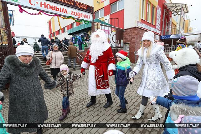 Новогодний праздник прошел в Лошице