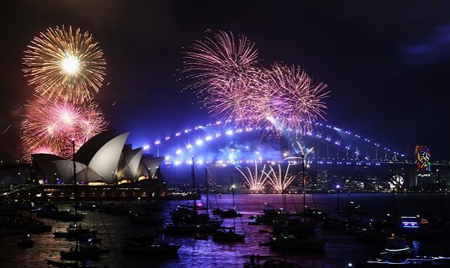 В Австралии одними из первых на планете встретили Новый 2018 год