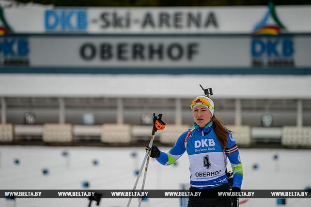 Анастасия Кузьмина победила, Дарья Домрачева заняла 7-е место в спринте на этапе Кубка мира