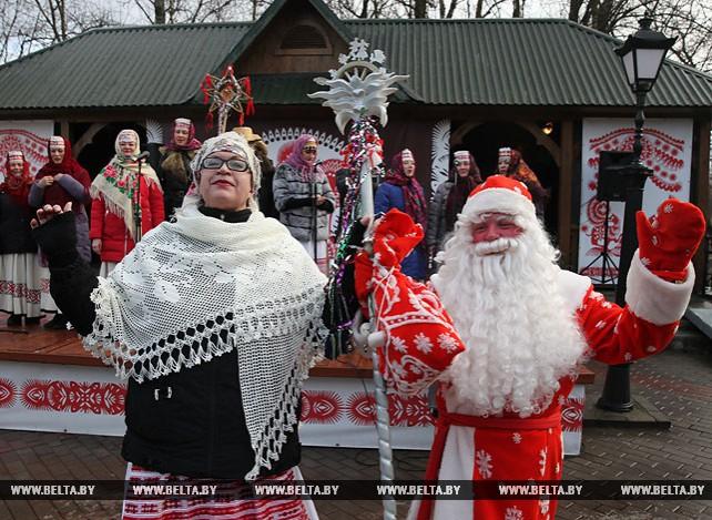 """Рождественские гуляния """"Віцебскія каляды"""" прошли в областном центре"""