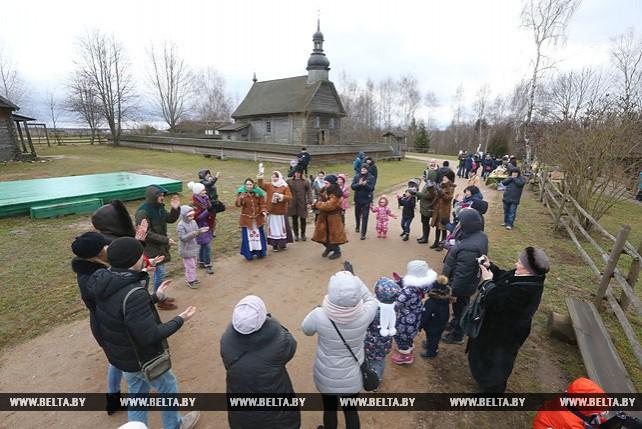 Рождество отпраздновали в музее народной архитектуры и быта в Строчице