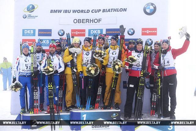 Биатлонисты Швеции стали победителями мужской эстафеты на этапе Кубка мира в Оберхофе