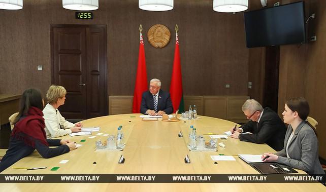 Мясникович встретился с послом Исландии в Беларуси