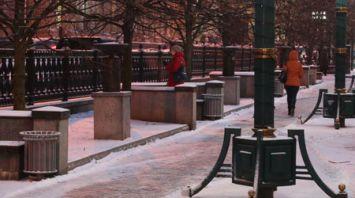 В Минске выпал снег