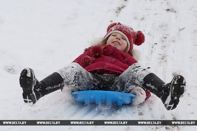 Долгожданный снег выпал в Гродно