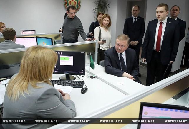 Кобяков ознакомился с работой налоговой инспекции Заводского района Минска