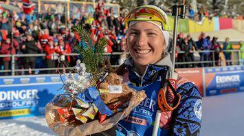 Дарья Домрачева заняла четвертое место в спринте на шестом этапе КМ в Антхольце