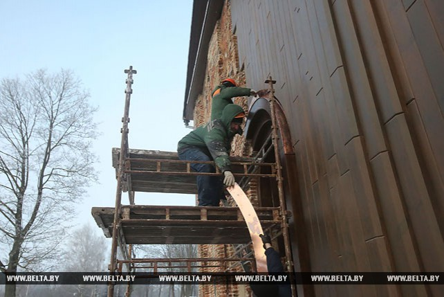 Завершены работы по капитальному ремонту наружной стены Коложской церкви