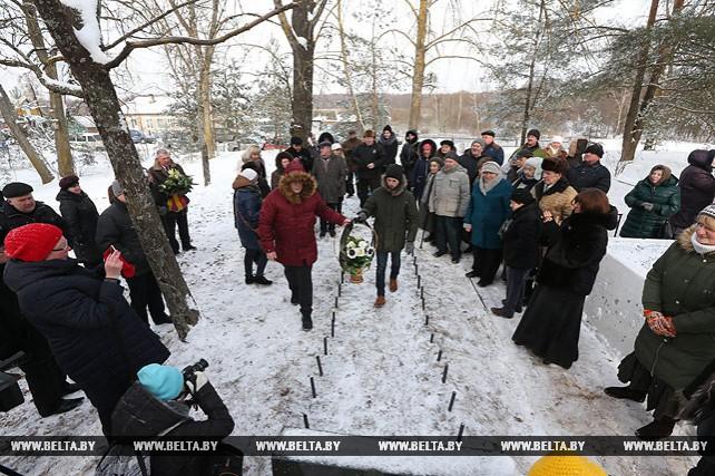 Митинг, посвященный памяти узников гетто и праведников мира, прошел в Пуховичском районе