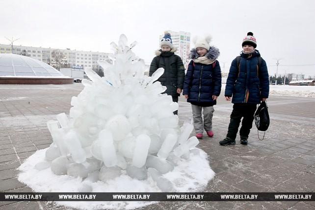 Конкурс ледяных фигур проходит в Витебске