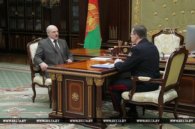 Перспективы развития Госкомитета судебных экспертиз обсуждены на встрече Лукашенко со Шведом