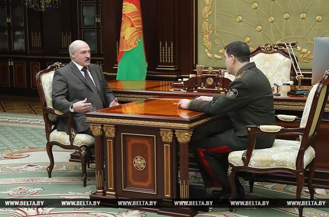 Лукашенко встретился с председателем КГБ