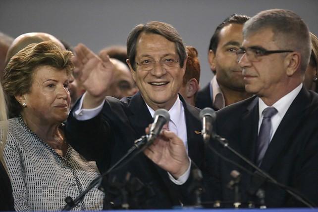 Никос Анастасиадис избран президентом Республики Кипр