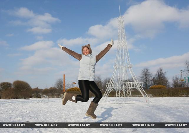 Забег в валенках устроили в Минске