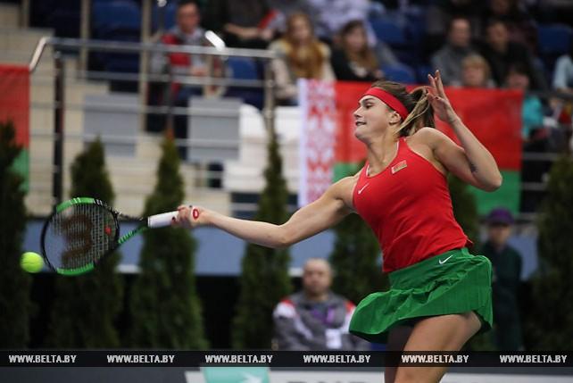 Соболенко и Лоттнер встретились в одиночном поединке на Кубке Федерации