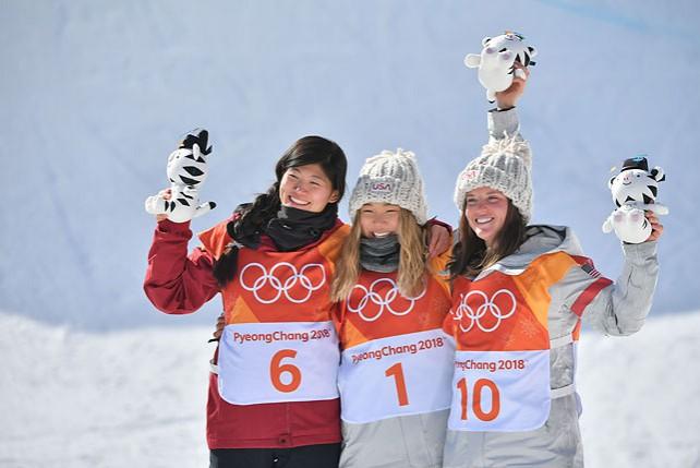 Сноубордистка из США Хлоя Ким заняла первое место в дисциплине хаф-пайп