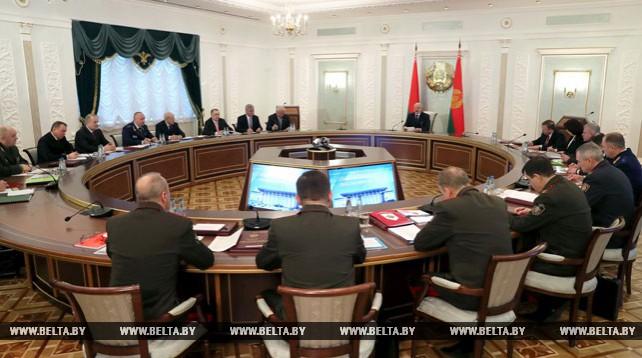 Лукашенко принял участие в заседании Совета безопасности