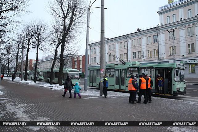 В Могилеве из-за отсутствия напряжения было остановлено движение троллейбусов