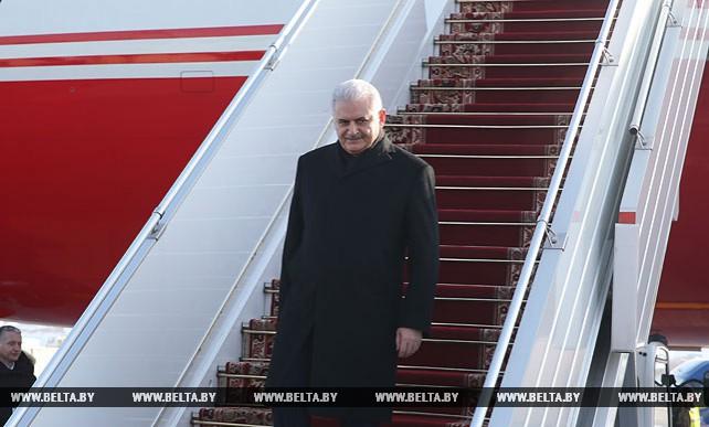 Премьер-министр Турции прибыл в Беларусь с официальным визитом