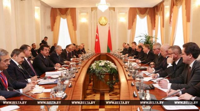 Встреча премьер-министров Беларуси и Турции в расширенном составе