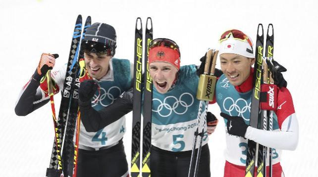 Немец Эрик Френцель победил в первом виде олимпийской программы лыжных двоеборцев