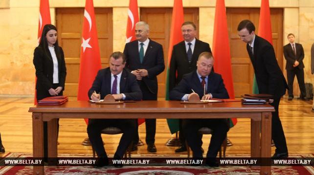 Беларусь и Турция подписали документы по расширению сотрудничества