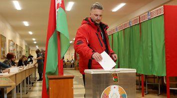 Голосование на избирательных участках в Гродно