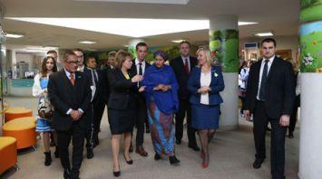 Первый заместитель Генсека ООН посетила Республиканский реабилитационный центр для детей-инвалидов