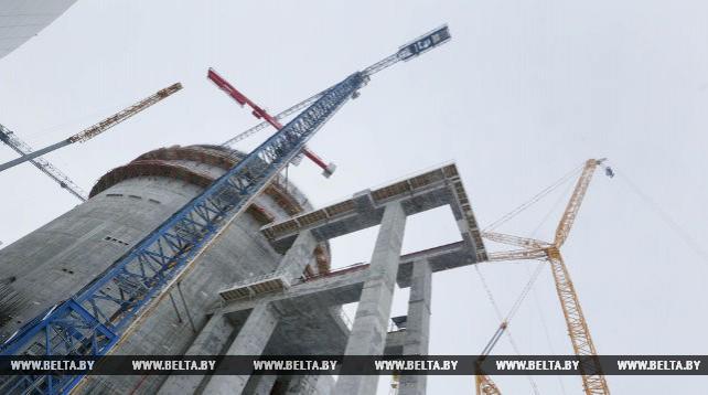 Работы по монтажу арматуры и укладке бетона на БелАЭС выполнены на 91%