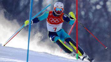 Шведский горнолыжник Мюрер завоевал золото на ОИ в слаломе