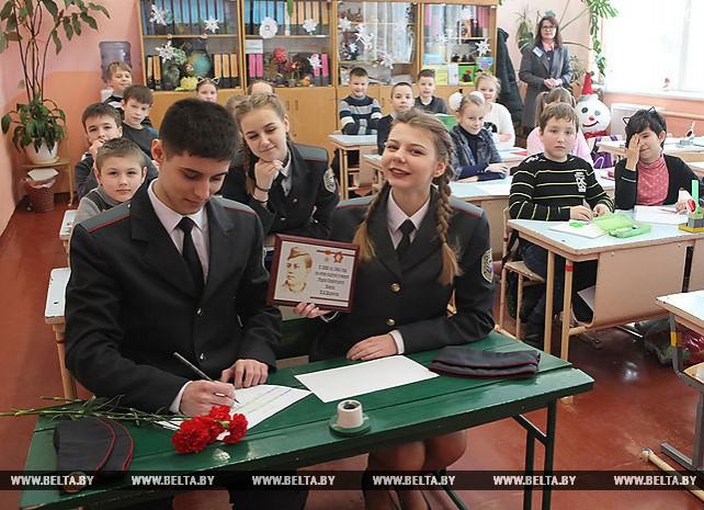 Парта Героя установлена в гомельской школе №25