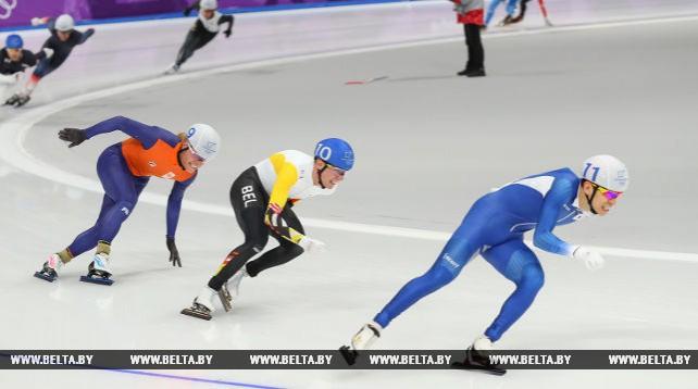 Конькобежец Ли Сын Хун из Республики Корея выиграл олимпийский масс-старт, Виталий Михайлов стал 7-м
