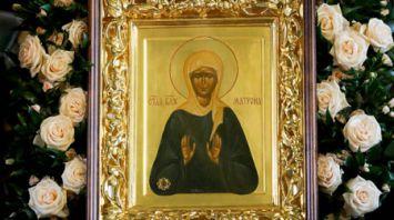 Частицу мощей святой Матроны Московской доставили в Минск