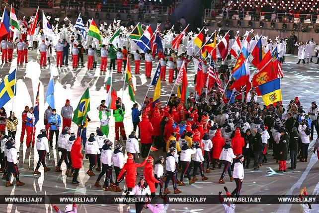 Церемония закрытия зимней Олимпиады в Пхенчхане