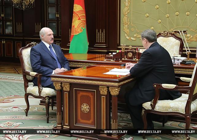 Лукашенко провел рабочую встречу с Михаилом Русым