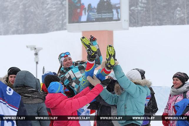 """Восемь команд приняли участие в смешанной эстафете в средней возрастной группе в """"Снежном снайпере"""""""