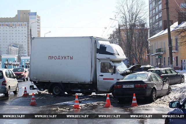 Серьезная авария произошла в Гомеле на проспекте Космонавтов