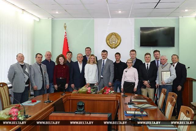 В Министерстве спорта и туризма прошло чествование белорусских фристайлистов
