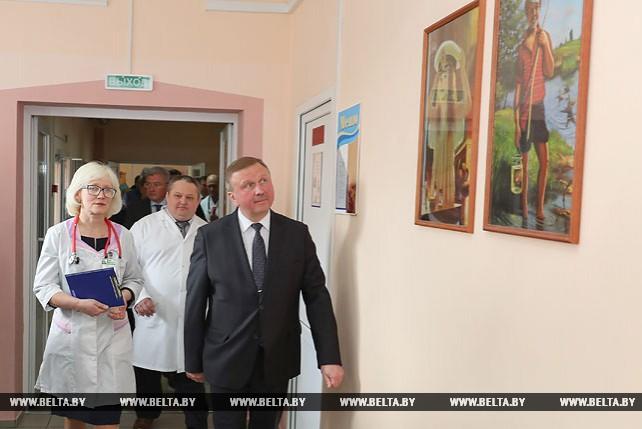 Кобяков посетил Ганцевичскую районную больницу