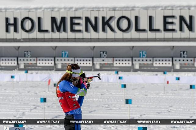 Белорусские биатлонистки готовятся к эстафетной гонке в Холменколлене