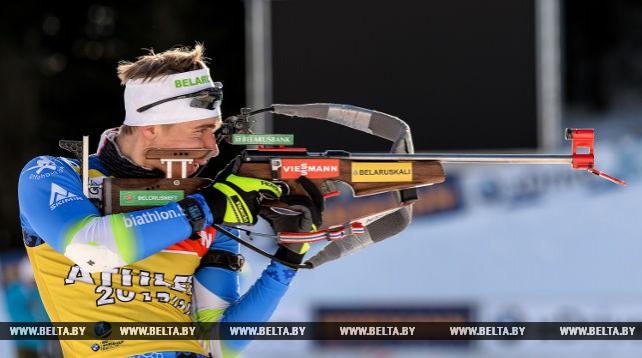 Мужская команда по биатлону провела официальную тренировку на этапе КМ в Холменколлене