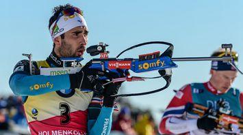Французский биатлонист Мартен Фуркад выиграл гонку преследования на этапе Кубка мира в Холменколлене