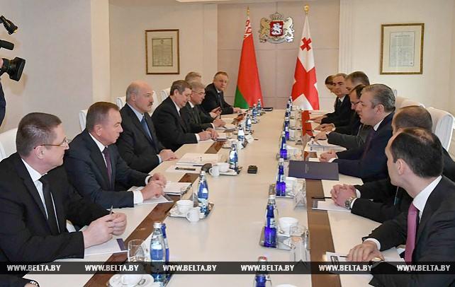 Александр Лукашенко встретился с Георгием Квирикашвили