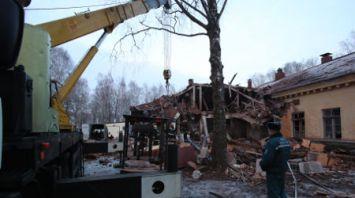 Обрушение здания произошло в Станьково