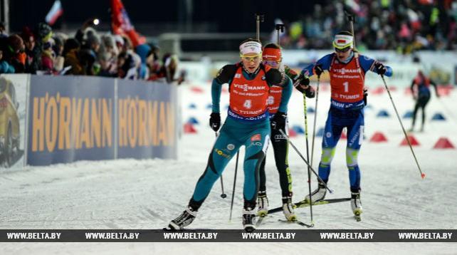 Финская биатлонистка Кайса Мякяряйнен победила в гонке преследования на этапе Кубка мира в Тюмени