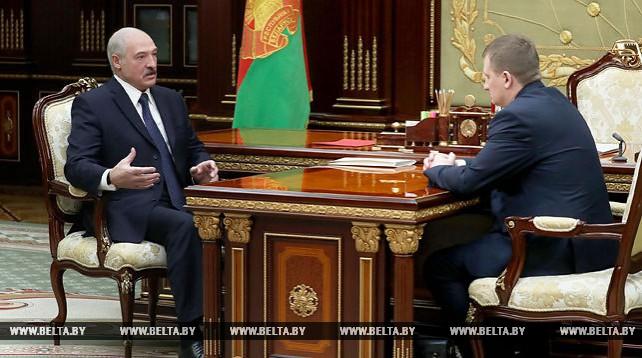 Лукашенко встретился с председателем Совета по развитию предпринимательства Александром Турчиным