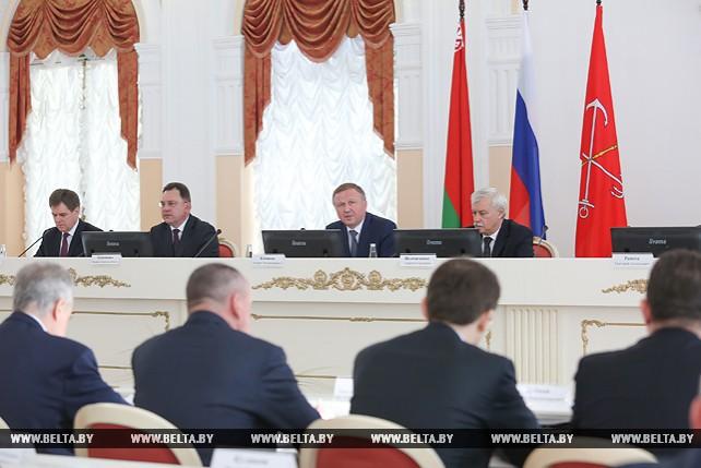 Кобяков принял участие в 10-м заседании белорусско-петербургского Совета делового сотрудничества