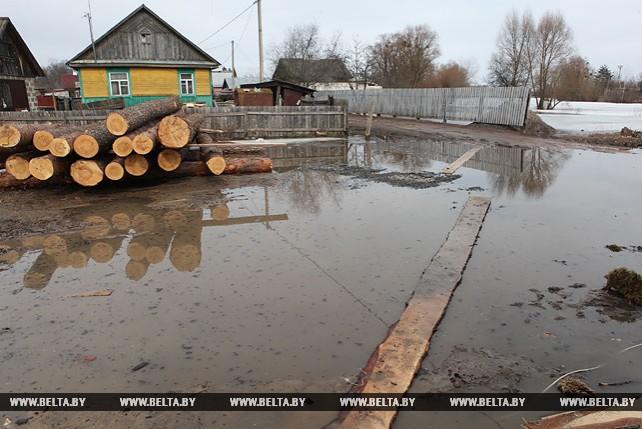 В Гомельской области подтоплены 3 участка дорог и 8 подворий