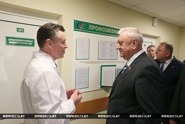 Мясникович посетил 12-ю Минскую городскую стоматологическую поликлинику